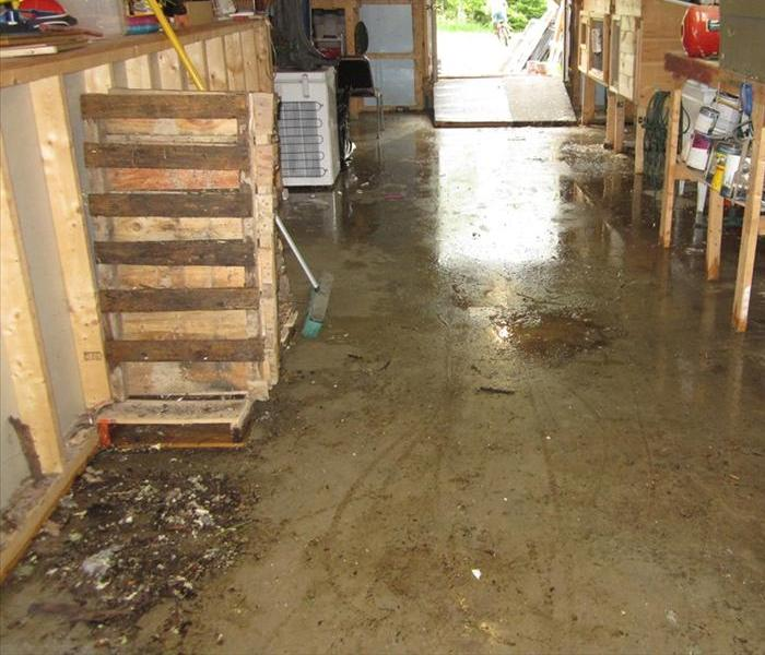 Basement Flooding Clean-up Before